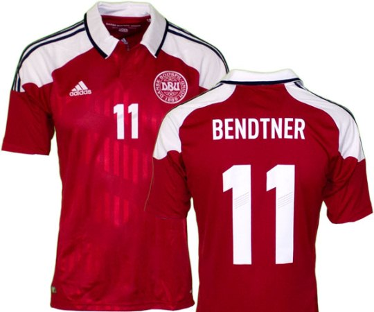 This is Denmark's new Euro 2012 jersey, the Danish football team's home shirt for the 2012 European Championships. Denmark's new 2012 Euro strip has been made by Adidas. The Danes...