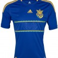 This is Ukraine&#8217;s alternate/away Euro 2012 jersey, the blue away kit that Ukraine will use at the upcoming Euro 2012 championships. Ukraine are in Group D at Euro 2012 along...