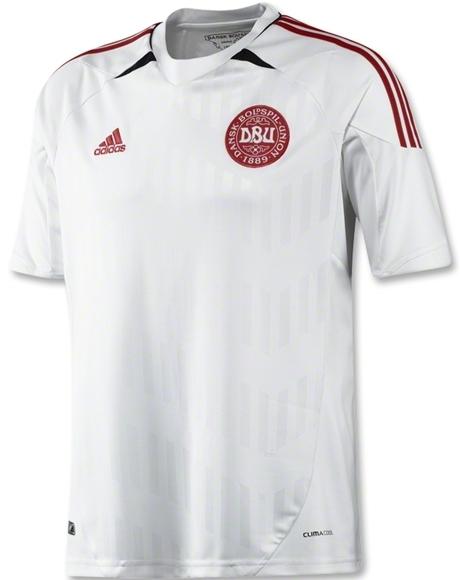 White Denmark Jersey Euro 2012