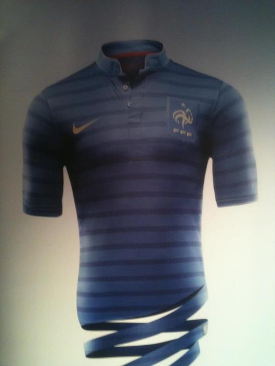 France Home Euro 2012 Jersey