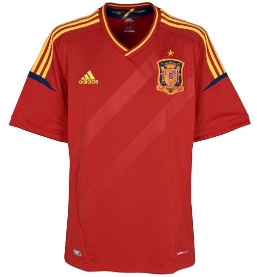 New Spain Jersey Euro 2012
