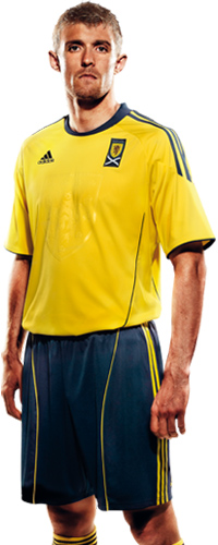 Fletcher Scotland Away Kit 2010