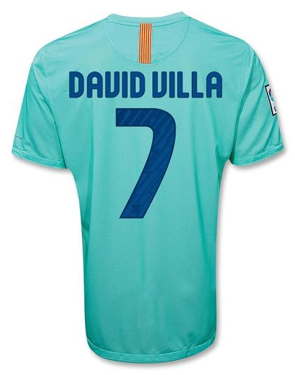 David Villa Barca Away Shirt