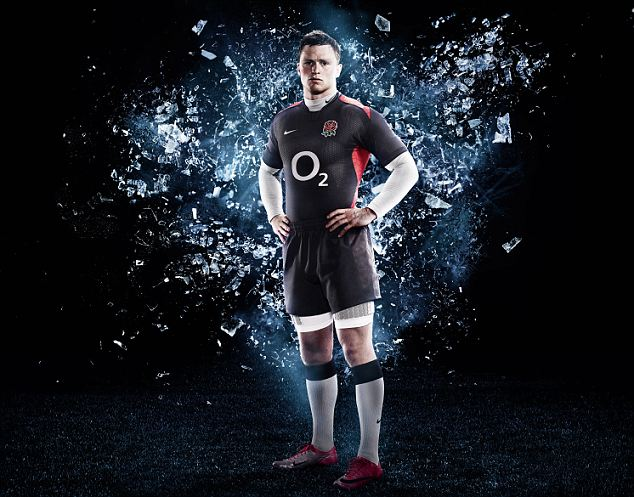 Black England Away Rugby Kit