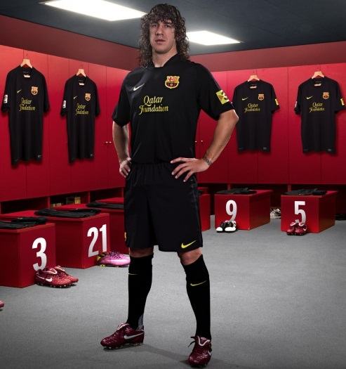 New Black Barcelona Away Kit 11-12