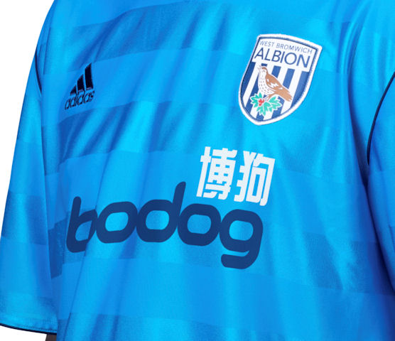 Blue West Bromwich Albion Away Shirt 11-12