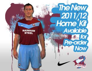 New Scunthorpe United Shirt 2011-12