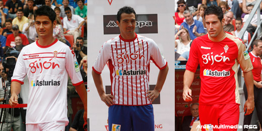 New Kappa Sporting Gijon Kits 11-12