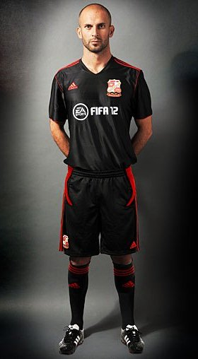 New Swindon Away Kit 11-12 Black Comazzi