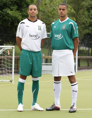 Plymouth Argyle Away Kit 11-12