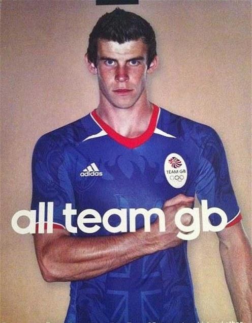 Team GB Football Kit 2012 Gareth Bale