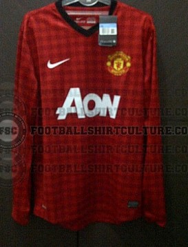 New Manchester United Kits 12 13 Home Away Shirts 2012 2013 Tartan