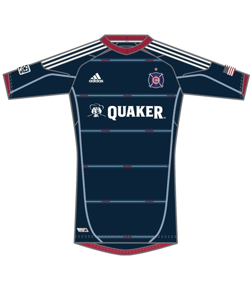 New Chicago Fire Kits 2012 MLS