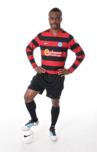 Gabriel Zakuani Peterborough Away Kit 12 13