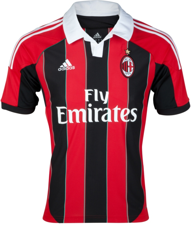 ac milan home shirt Photo