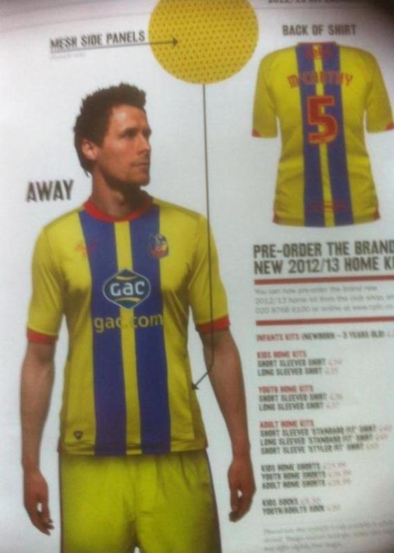 Crystal Palace Away Shirt 2012-2013