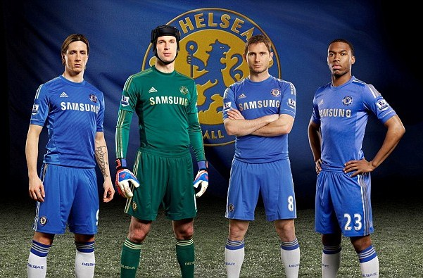 Official  New Chelsea Home Kit 12 13  Adidas Gold Chelsea Home Jersey