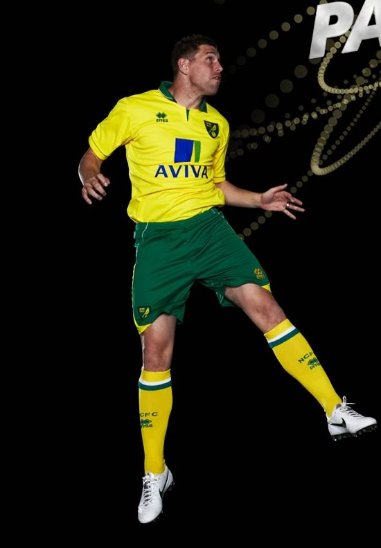 Norwich City thuisshirt 2012/2013