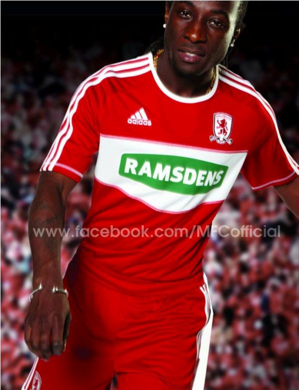 Middlesbrough Home Strip 2012 2013