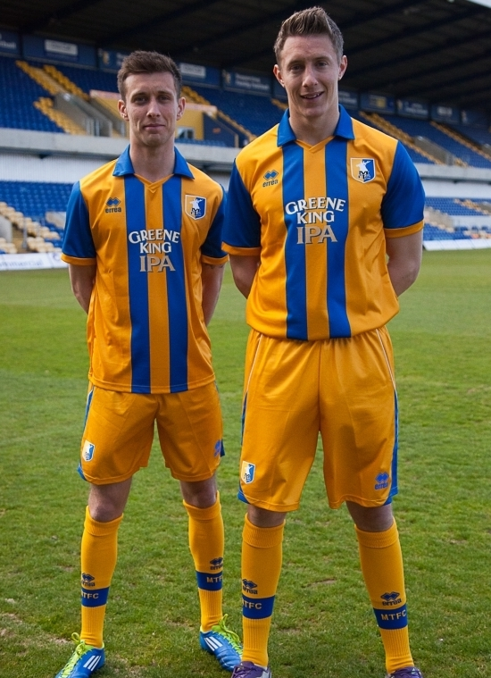 New Mansfield Town Kit 12-13- Errea Mansfield Home Away Shirts ...