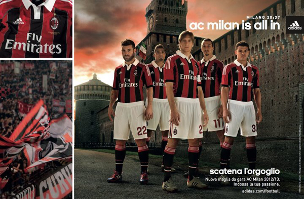 ac milan new shirt Photo