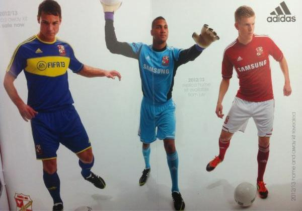 New Swindon Town Kit 2012-13