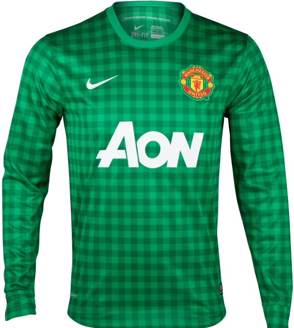 Manchester United Goalkeeper Jersey 2012-13 Green Gingham