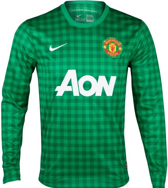 Manchester United Goalkeeper Jersey 2012-13 Green Gingham