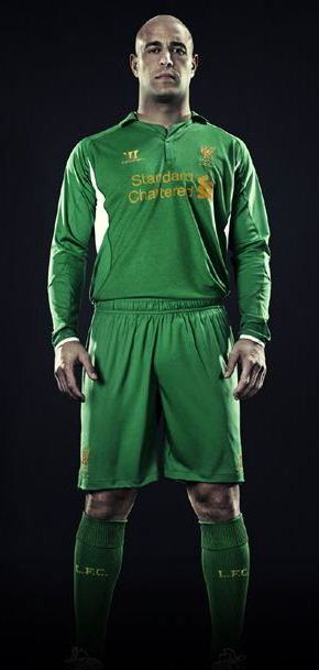 Pepe Reina Liverpool Goalkeeper Kit 12-13