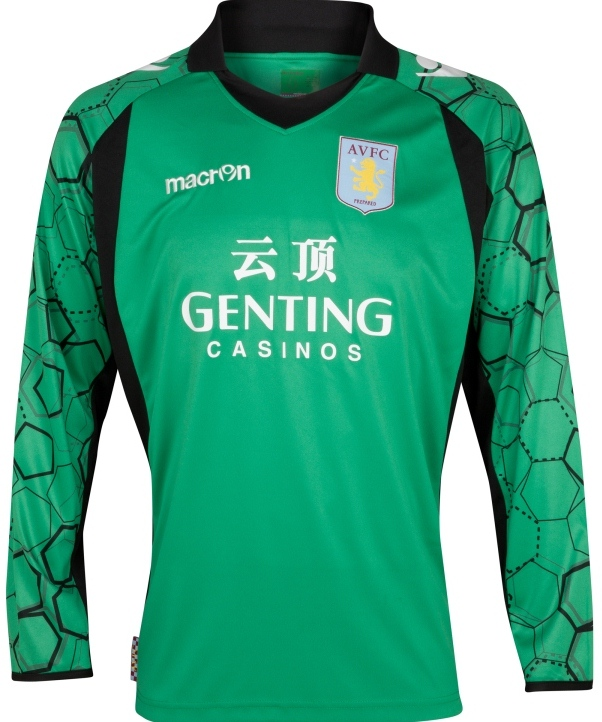 New Aston Villa Goalkeeper Kit 2013 Given