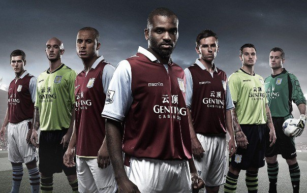 New Macron Aston Villa Kit 2013