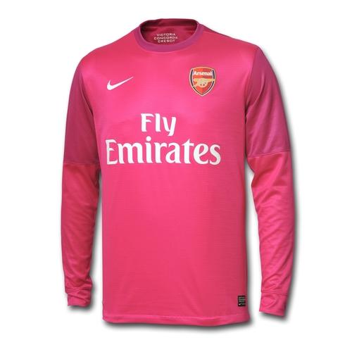 new arsenal away goalkeeper kit 12 13  pink arsenal gk