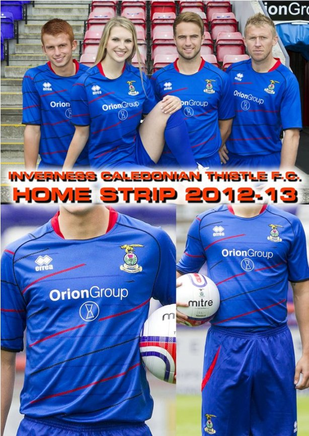 New Inverness Caley Thistle Strip 2012/13