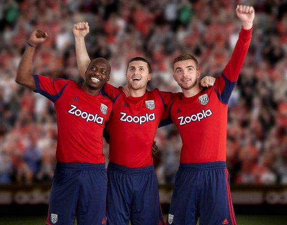 Red West Brom Kit 2012