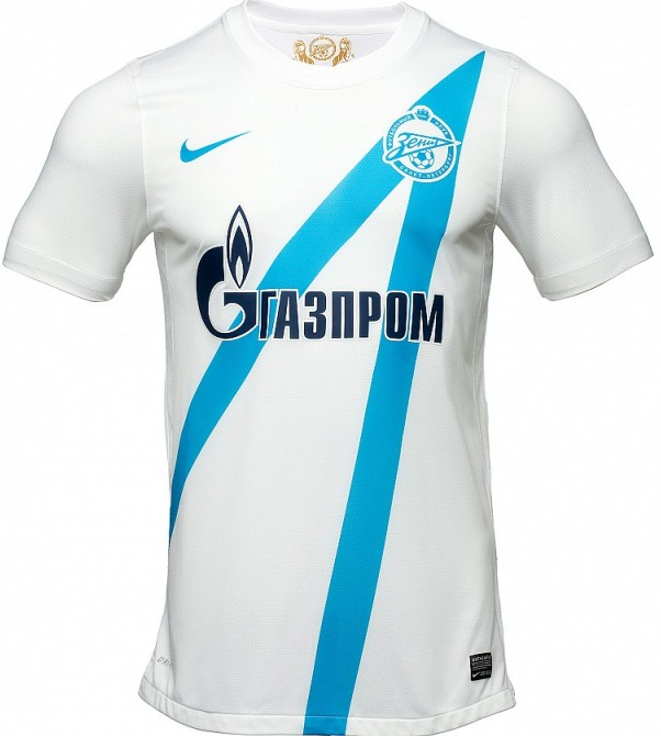 2013 nike zenit arrow kits 12 13 russian premier league home away