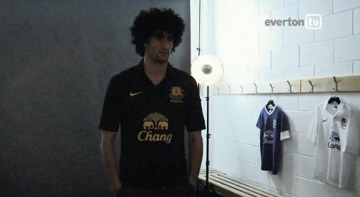 Marouane Fellaini Everton 2012 Third Jersey