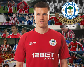 Red Wigan Athletic Third Kit 12 13