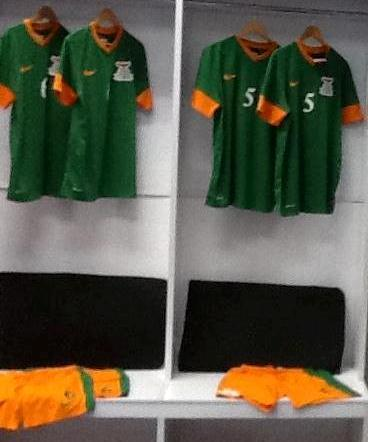 New Zambia Jersey 2013 AFCON