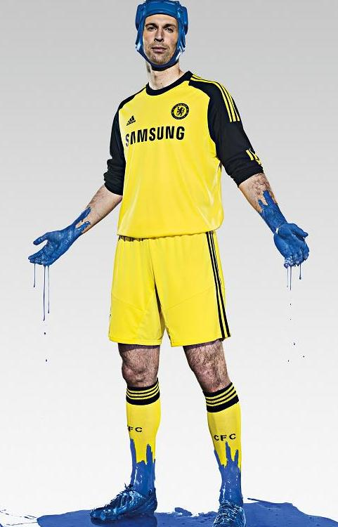 New Chelsea Goalkeeper Kit 2013 14   Adidas Cech Home GK Shirt 13 14