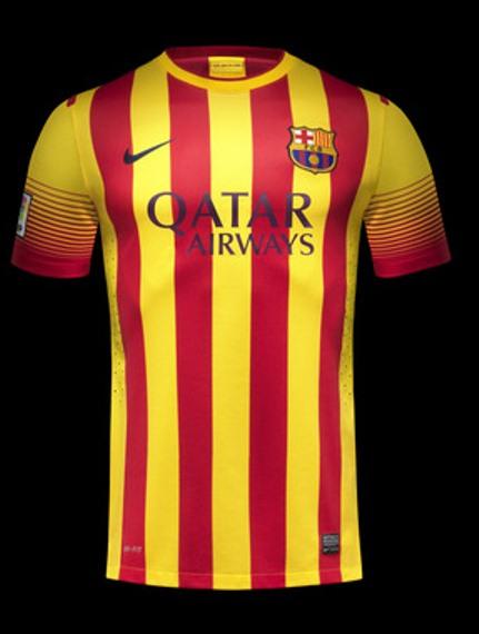 Barcelona Senyera Away Kit 2013 14
