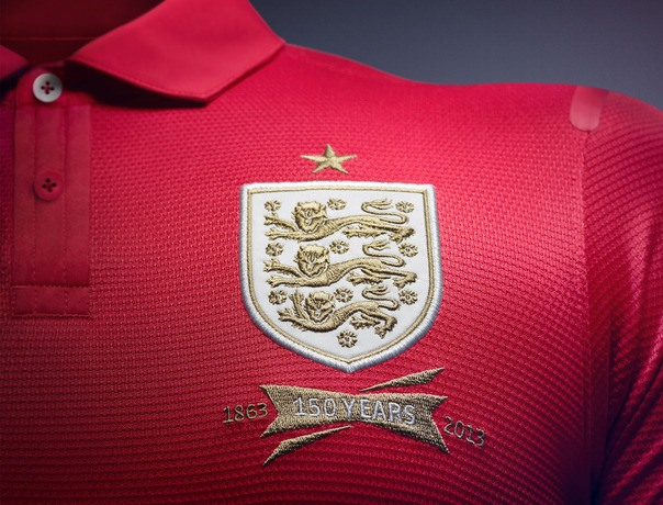 England Away Kit Crest Gold