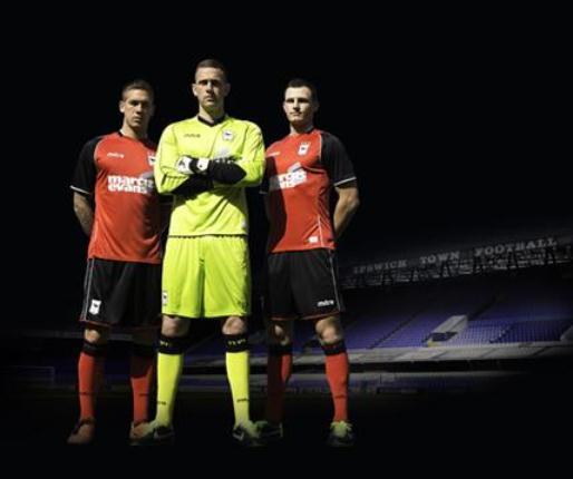 Red Ipswich Away Shirt 2013
