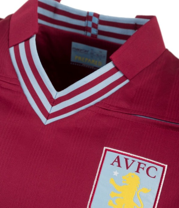 New AVFC Home Shirt Collar