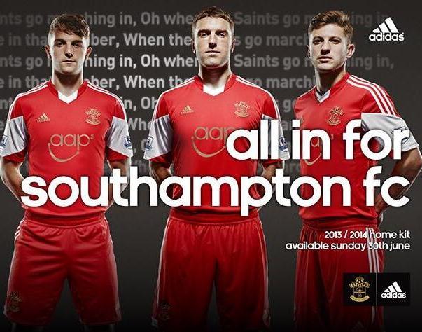 Southampton New Home Shirt 2014