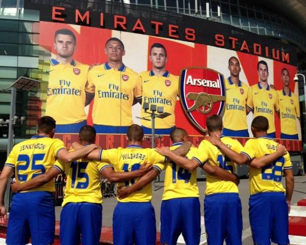 Arsenal Kit Launch 2013 14