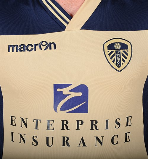 Leeds United Away Top Closeup