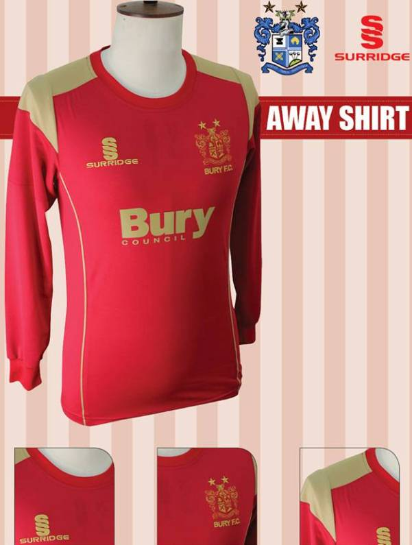 New Bury FC Surridge Away Shirt 13 14
