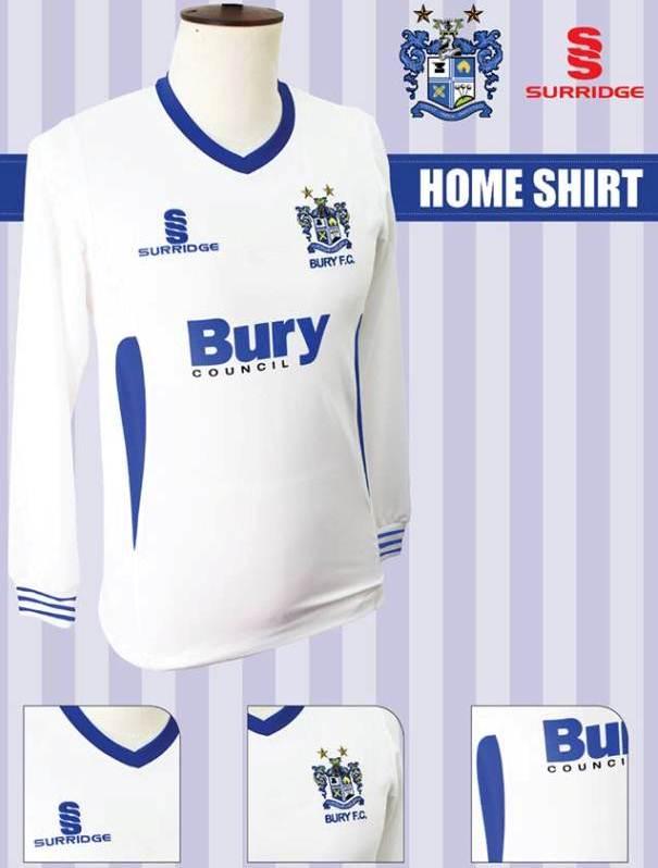 New Bury Home Kit 2013 14