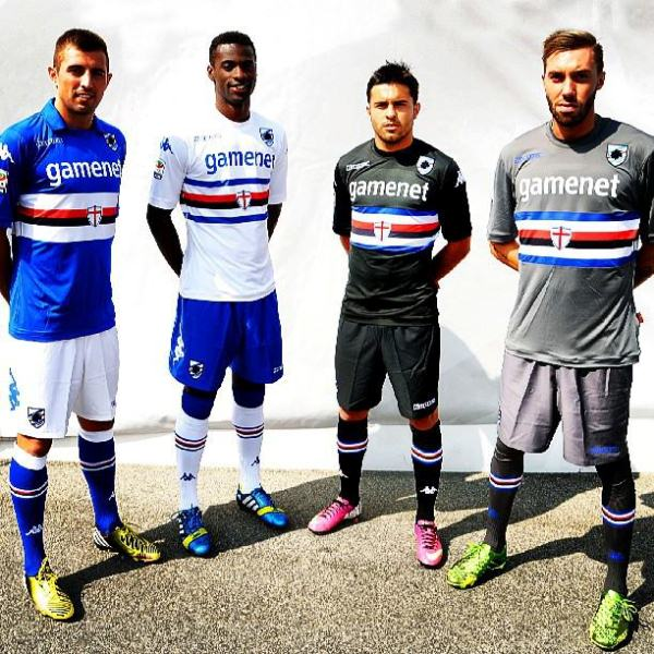 New Sampdoria Kits 13 14