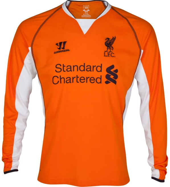 Orange Liverpool Goalkeeper Shirt 13 14
